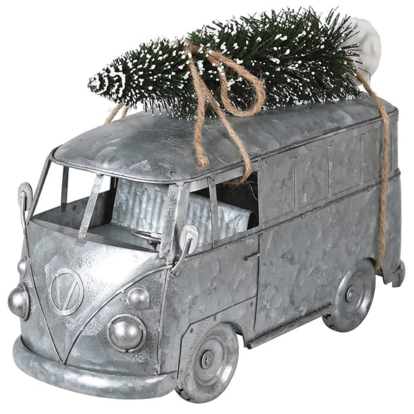 Silver Camper Van Decoration