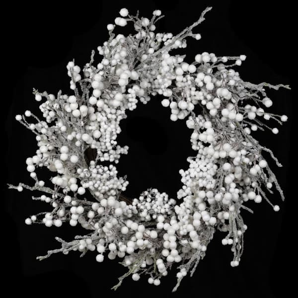 Frosted White Berry Wreath