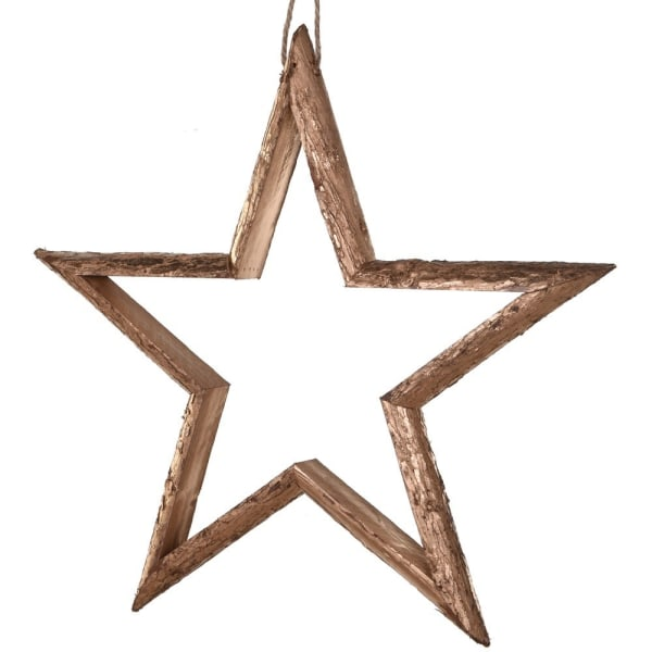 Gold Wooden Hanging Star