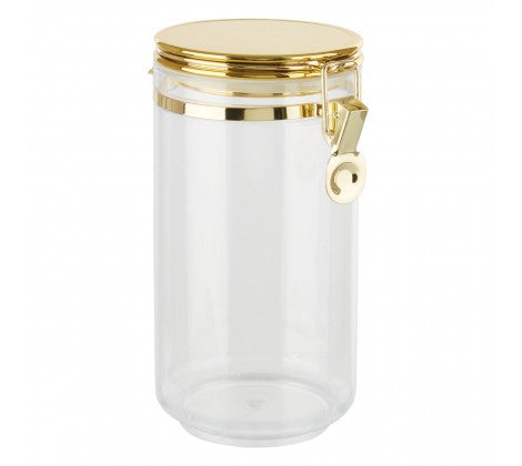 Large Gold Clip Canister