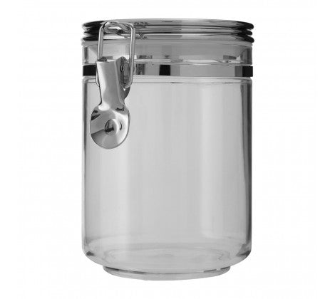 Medium Silver Clip Canister