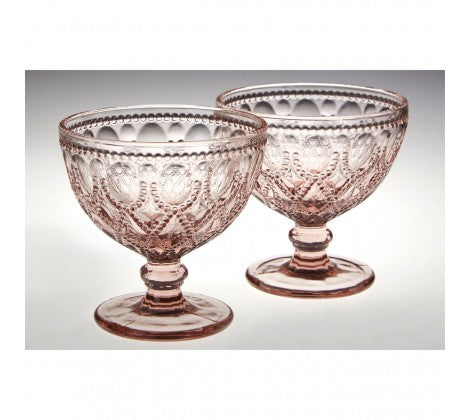 Pink Glass Sundae Dishes