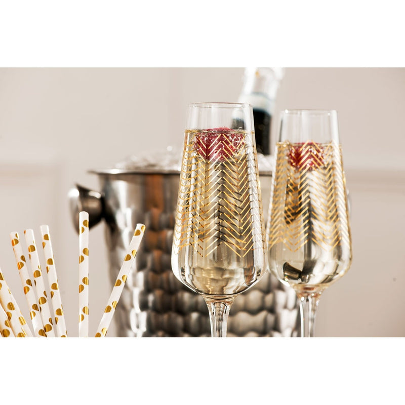 Jazz Golden Champagne Glasses
