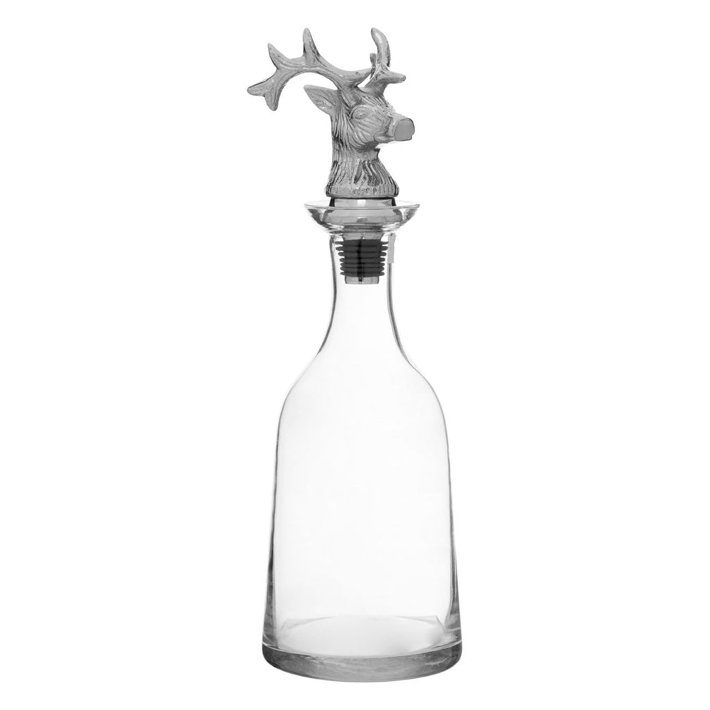 Glass Stag Decanter