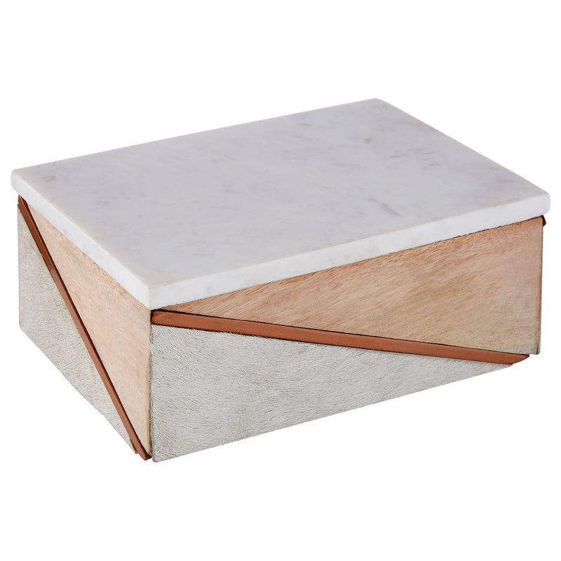 Large Cowhide Trinket Box