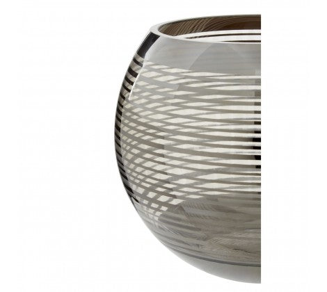 Round Striped Glass Vase