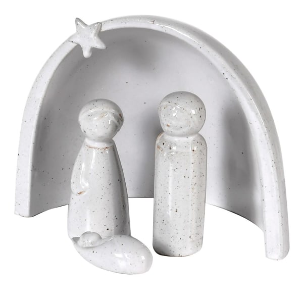Grey Porcelain Nativity Scene