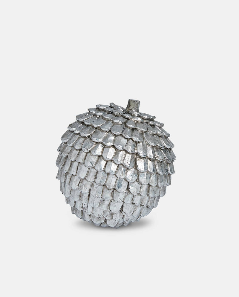 Large Silver Pinecone Ornament