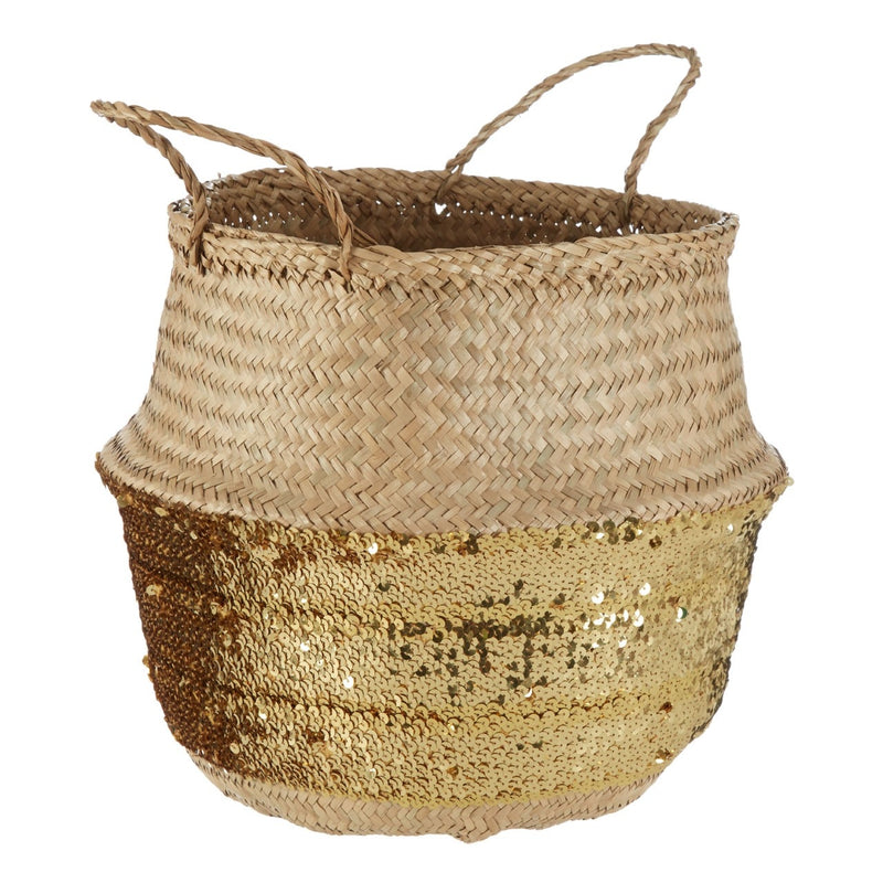 Large Sequin Seagrass Basket