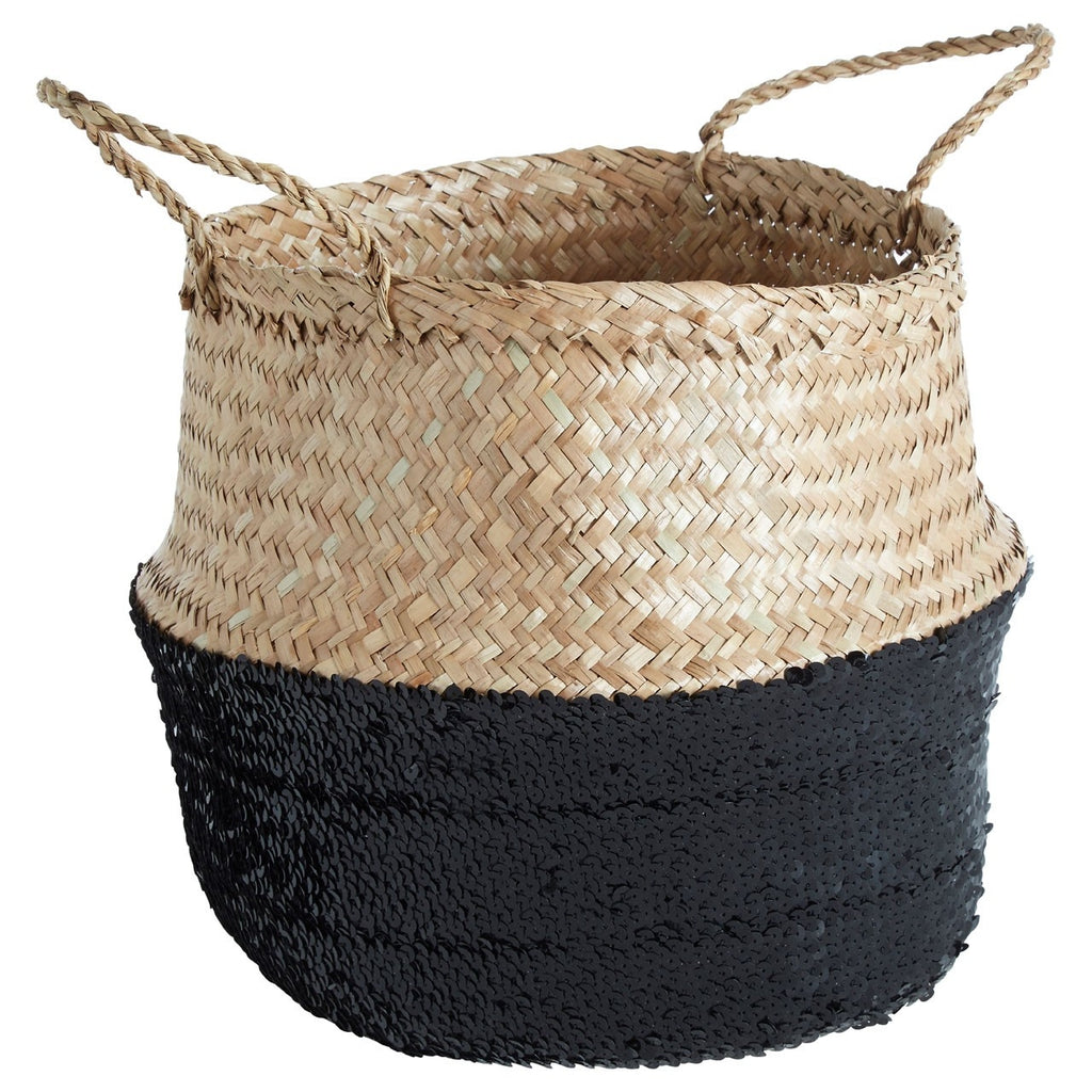 Medium Black Seagrass Basket