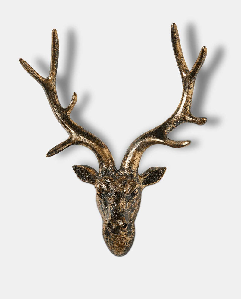 Bronze Deer Wall Ornament