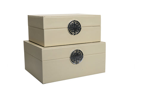Set Of 2 Wooden Boxes