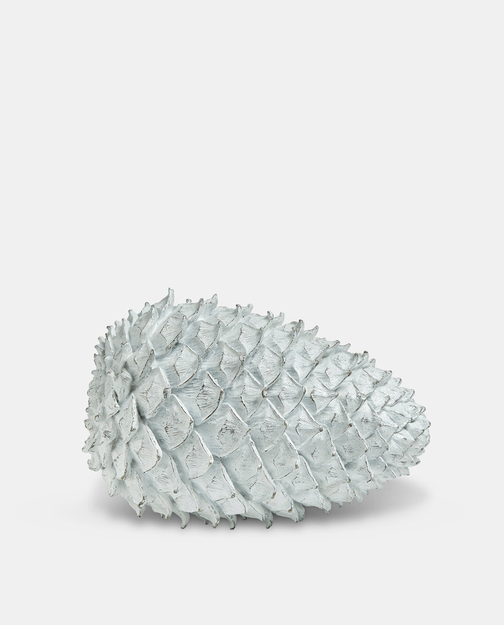 Large White Pinecone Decoration