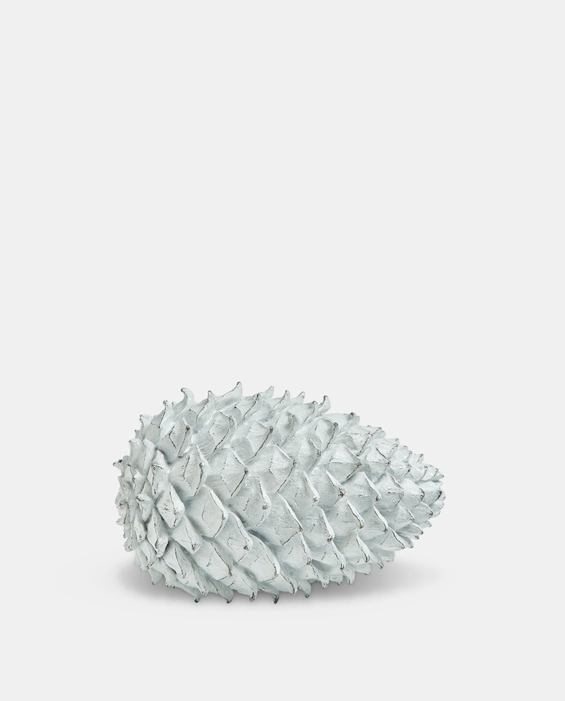 White Pinecone Decoration