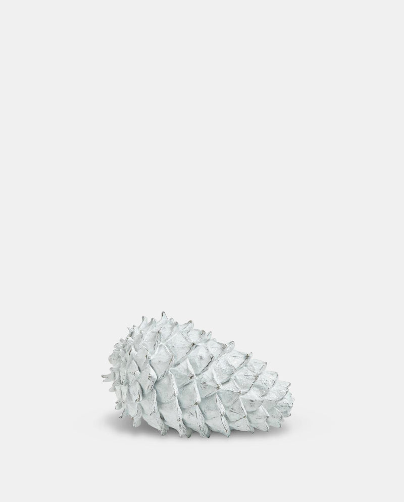 Small White Pinecone Decoration