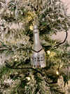 Silver Champagne Bottle Ornament