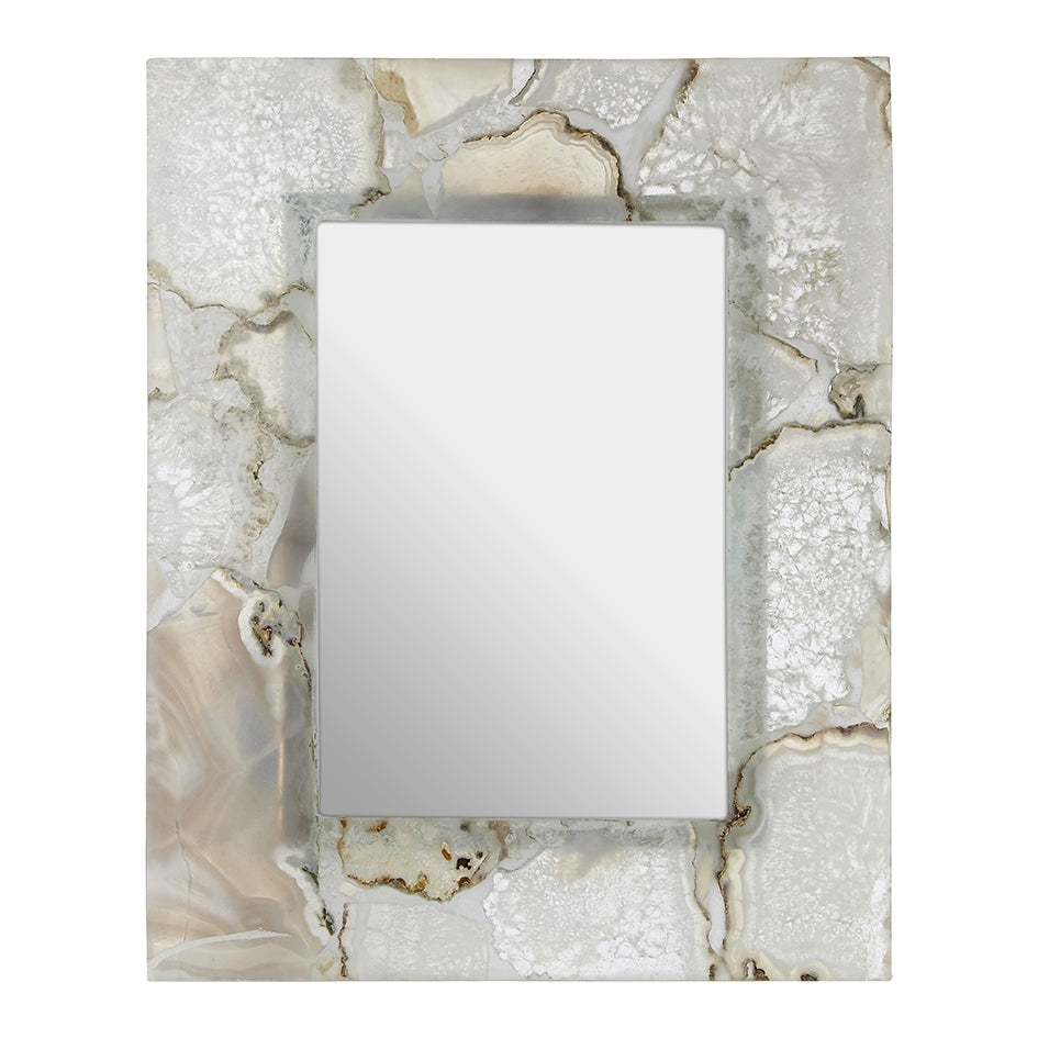 White Agate Photo Frame