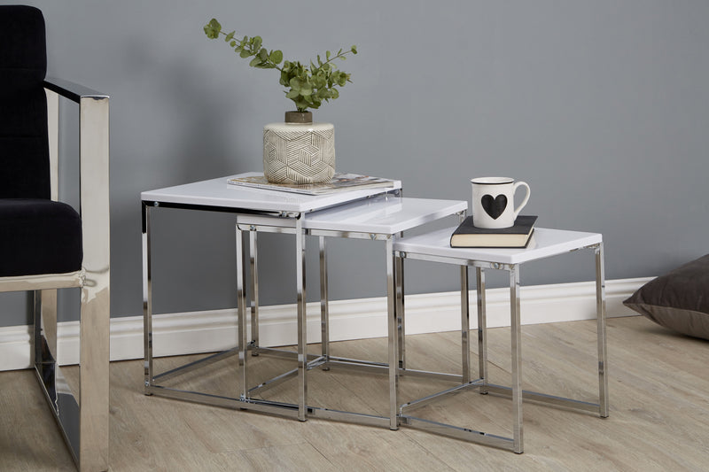 White Blake Nesting Tables