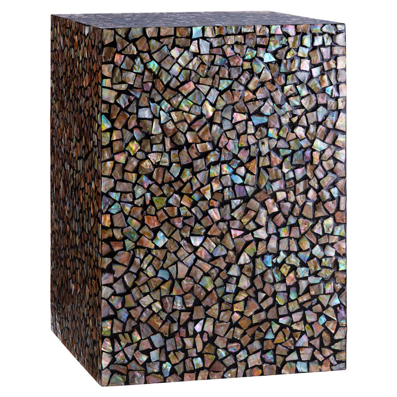 Crackle Mosaic Square Side Table