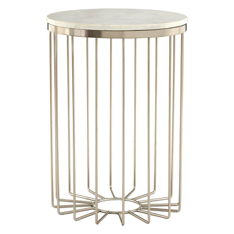 Faux Stingray Leather End Table