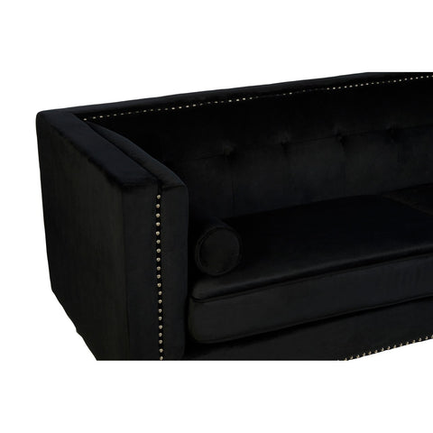 Adonia Black 3 Seater Sofa