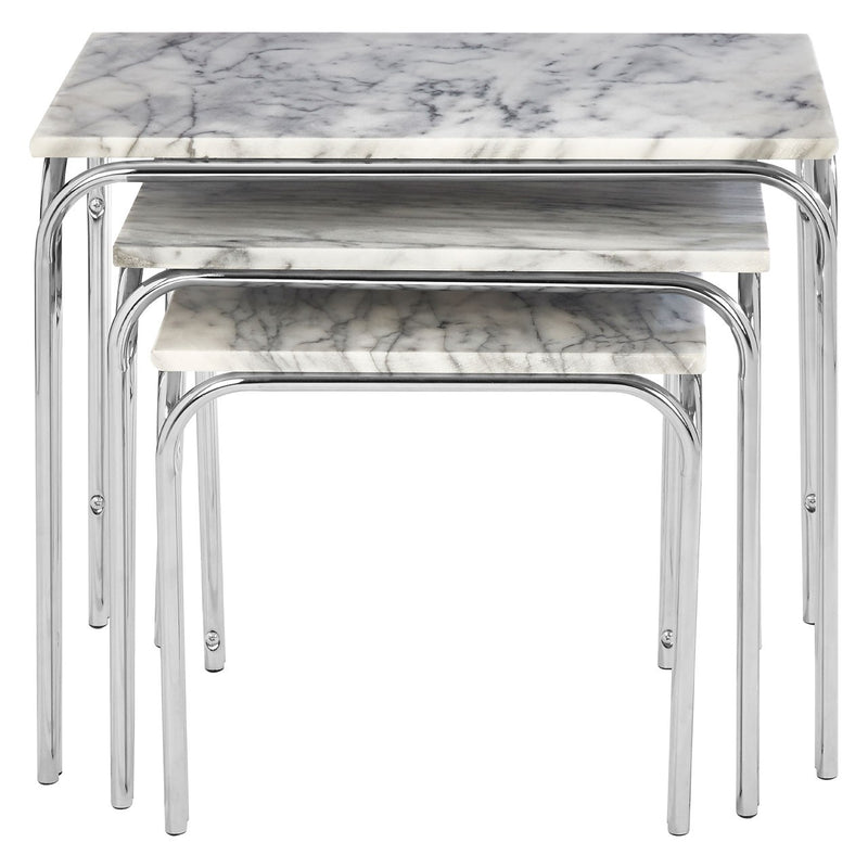 Nest Of 3 Marble Effect Tables