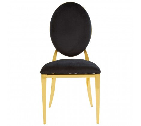 Warm Gold Oval Back Dining Chair