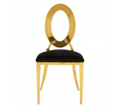 Warm Gold Frame Dining Chair