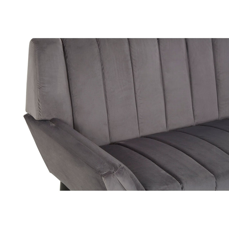 Grey Panelled 2 Seater Sofa