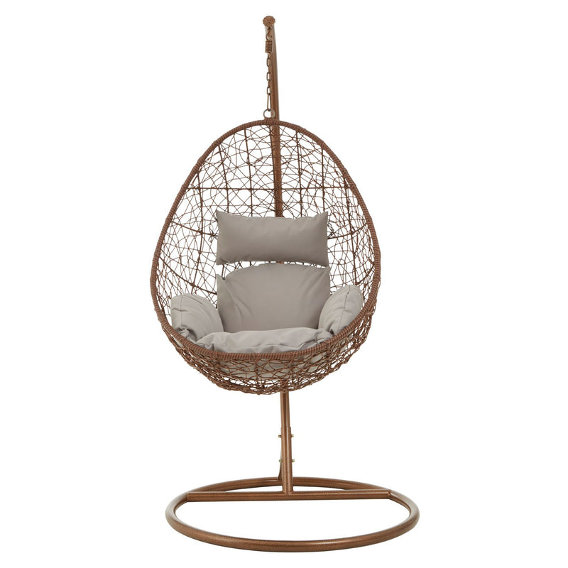 Brown Hanging Egg Chair