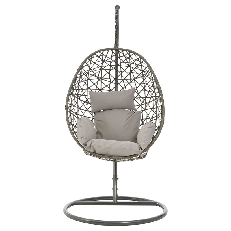 Grey Hanging Egg Chair