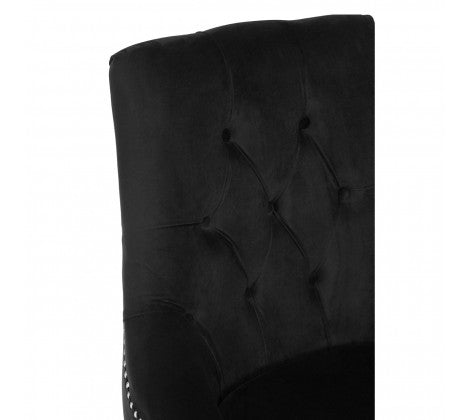 Gigi Black Button Tufted Chair