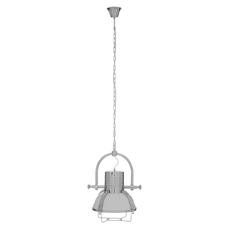Industrial Silver Pendant Light