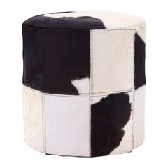 Black And White Cowhide Ottoman