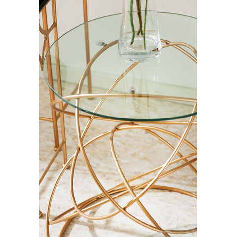 Avonte Circles Side Table