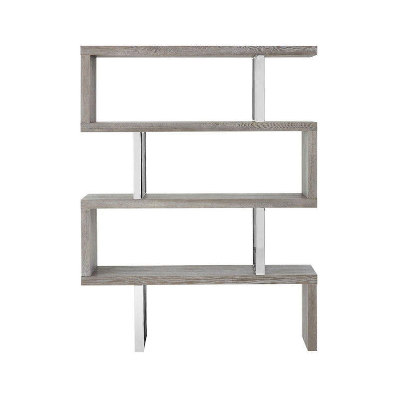 Grey Elm Wood Bookshelf