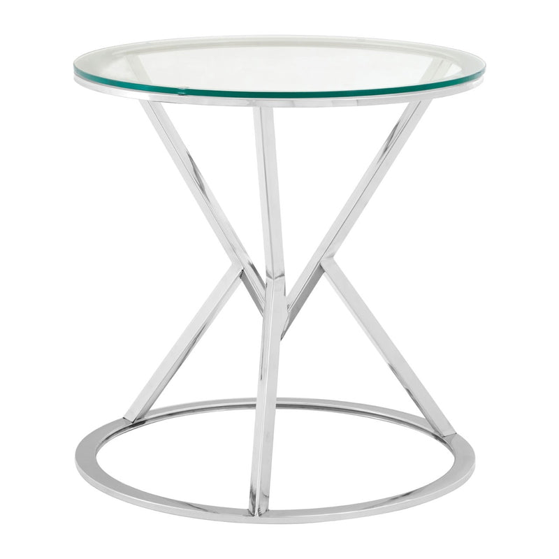 Hourglass Silver Side Table