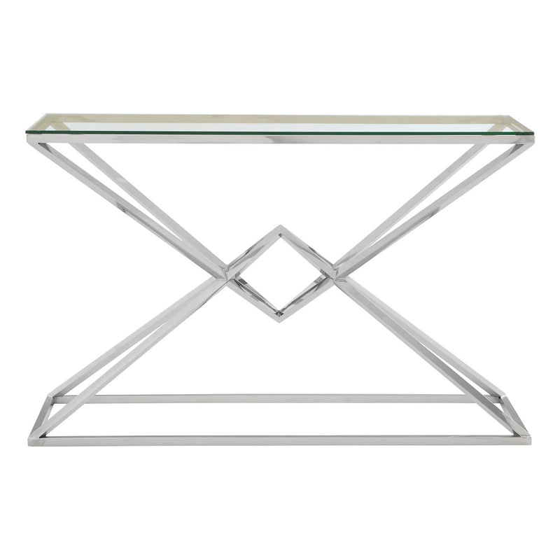 Asteroid Silver Console Table