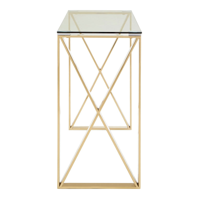 Horizon Gold Console Table