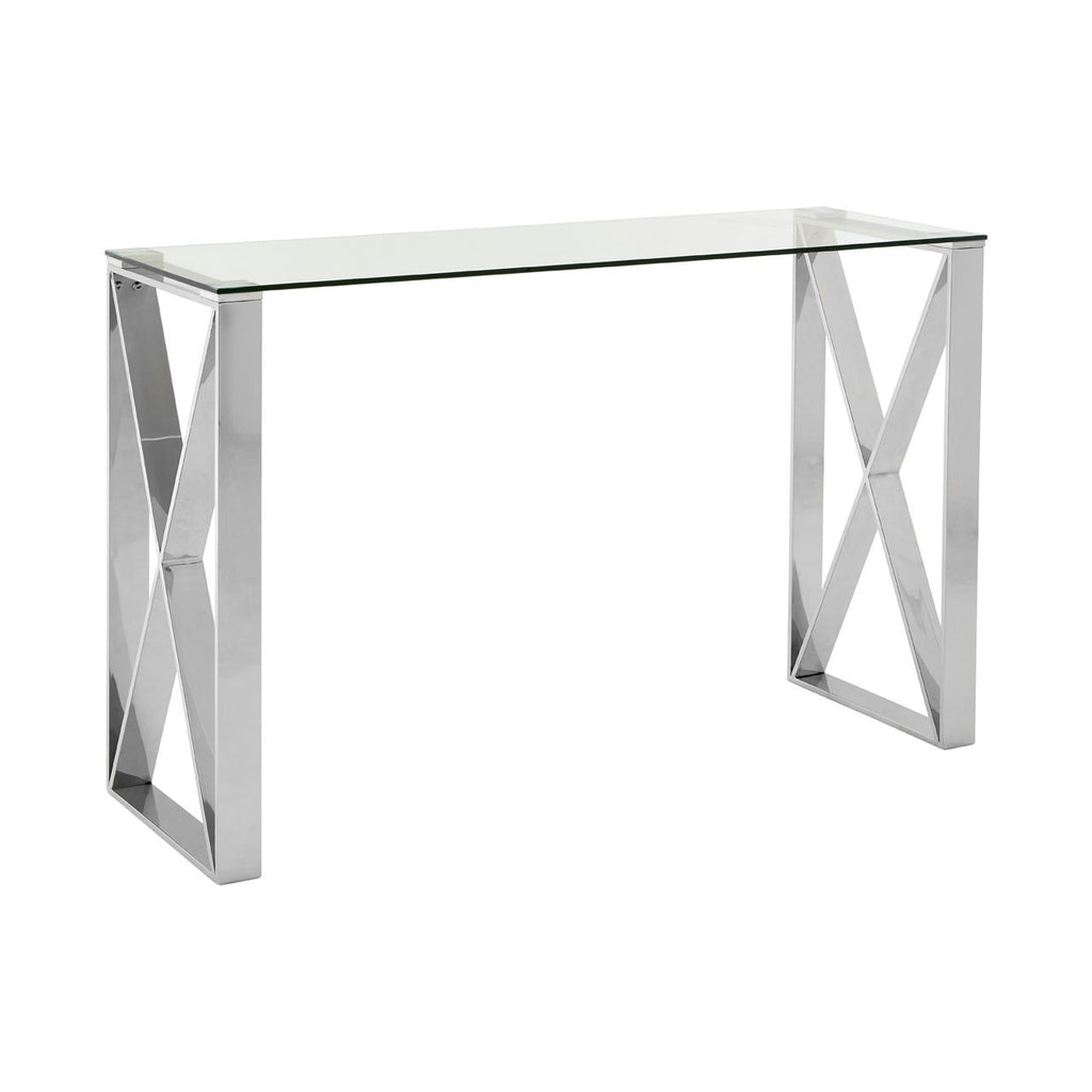 Horizon Silver Console Table