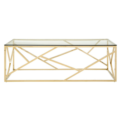 Gold Geometric Coffee Table