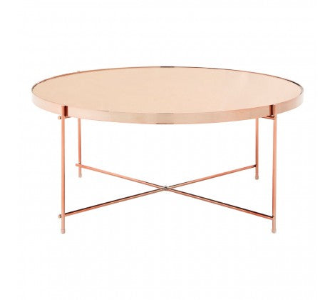 Rose Gold Mirrored Coffee Table