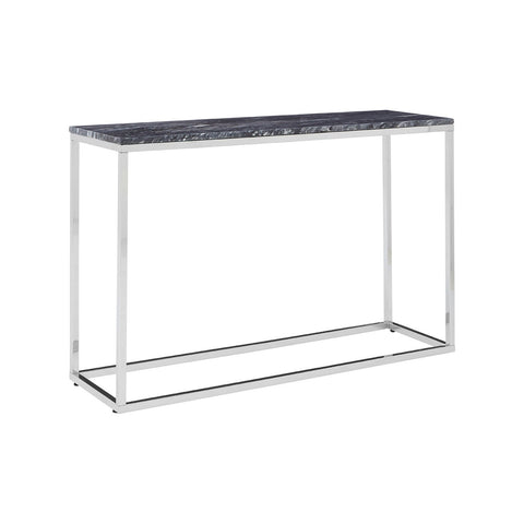 Black Marble Top Console Table