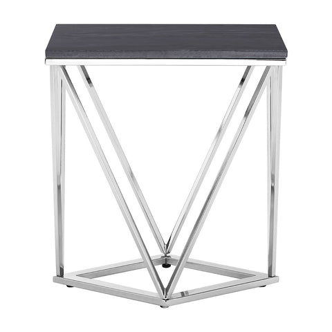 Black Marble Effect Side Table