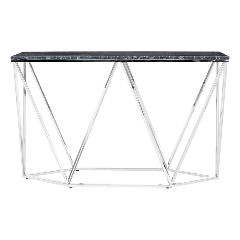Black Marble Effect Console Table