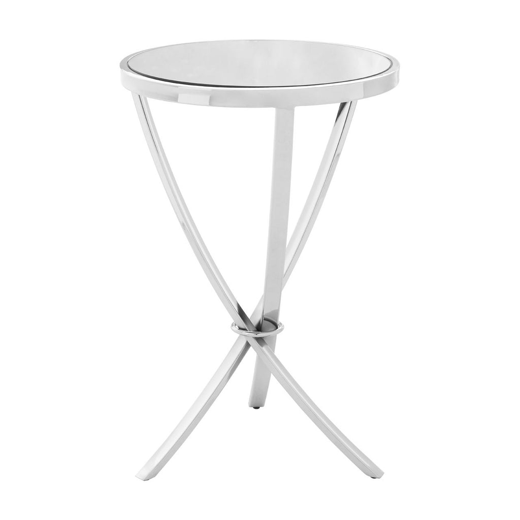 Luxe Chrome Pinched Side Table