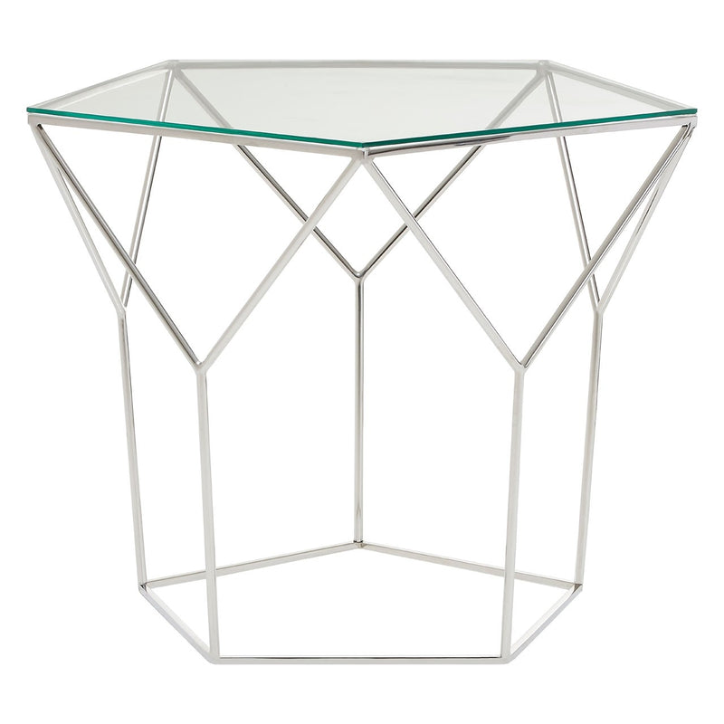 Pentagonal Silver Coffee Table