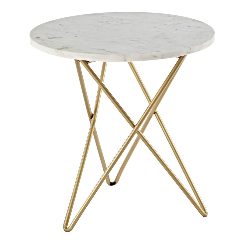 Sacha Marble Top Side Table