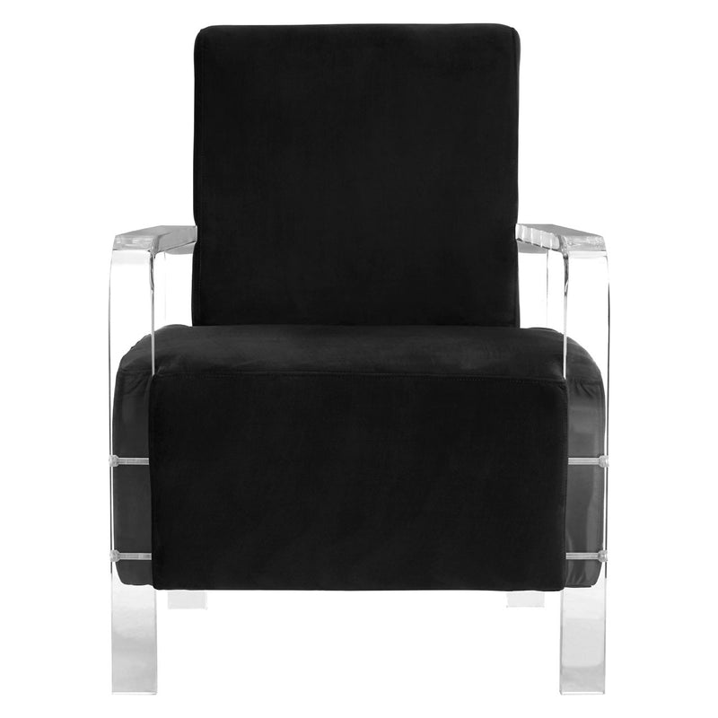 Gigi Black Velvet Chair
