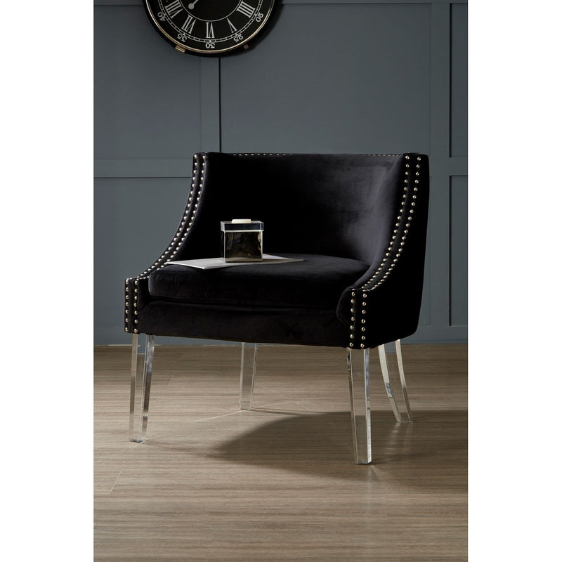 Gigi Black Curved Chair